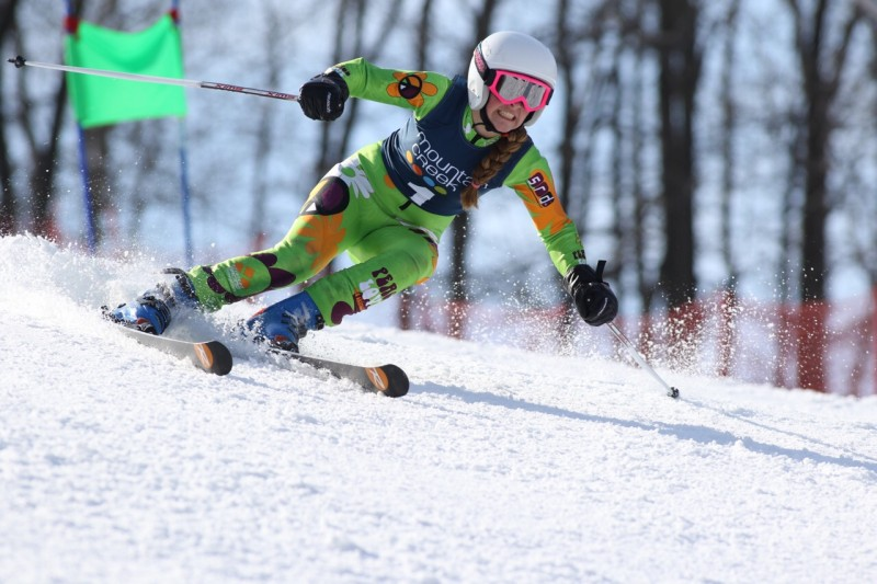 Jane McKinley makes the podium at USSA U16 Qualifier at Mt Creek