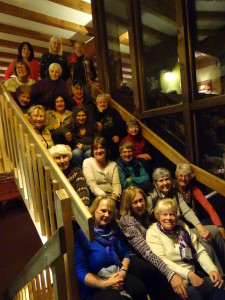 Ladies of Ski Club of New Jersey pose at Mountain Top Inn, Chittenden.